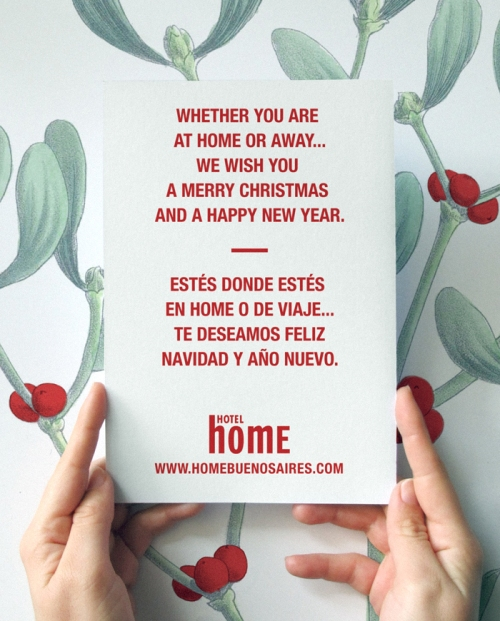 Merry Christmas and Happy New Year from Home Hotel