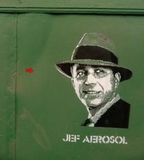 Jef Aérosol  at the Recoleta Cultural Centre