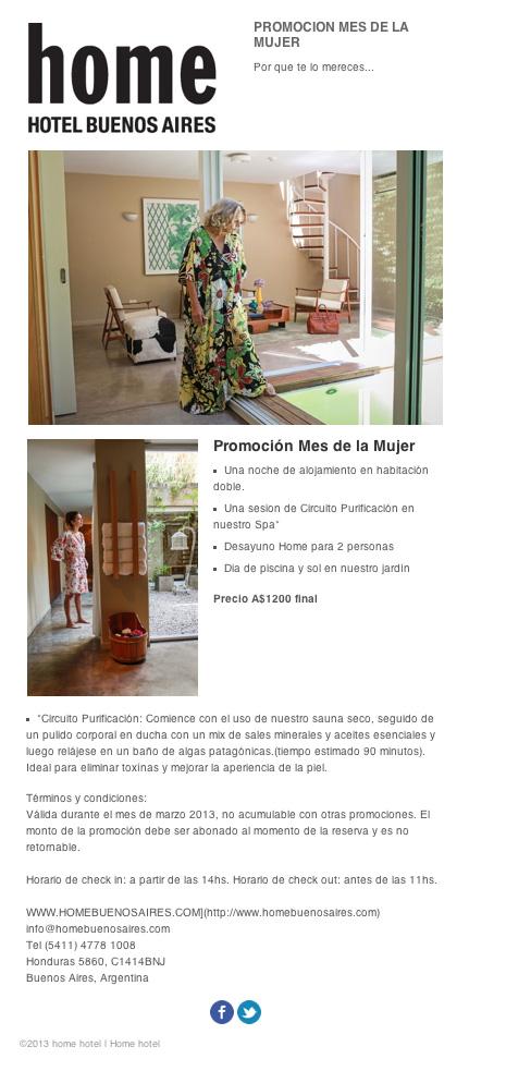 promocion mes de la mujer en Home
