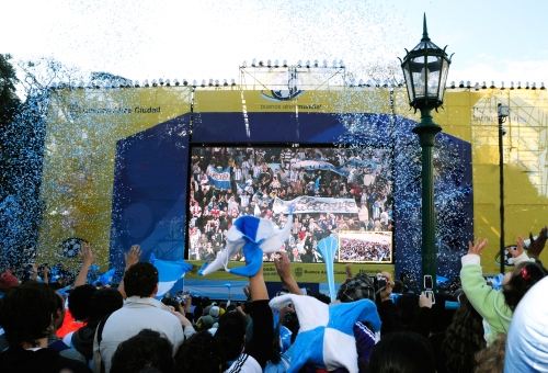 Big Screen in Buenos Aires for the World Cup