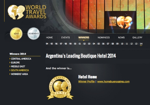 World Travel Awards Home Hotel