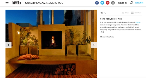 Home Hotel featured in Conde Nast Traveler